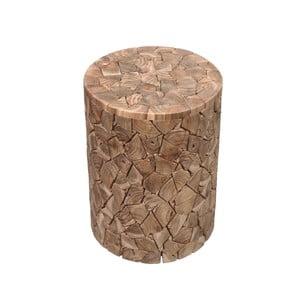 Stołek z drewna tekowego HSM Collection Kaie