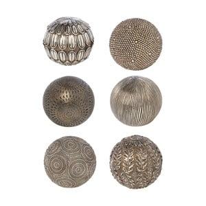 Zestaw 6 kulek dekoracyjnych Bronze