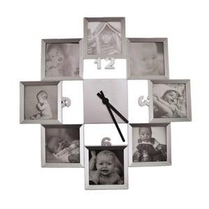 Zegar z 8 amkami na zdjęcia Incidence Basics, ⌀40cm