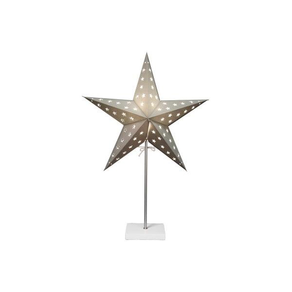 Świecąca   gwiazda ze stojakiem Best Season Star On Base Silver