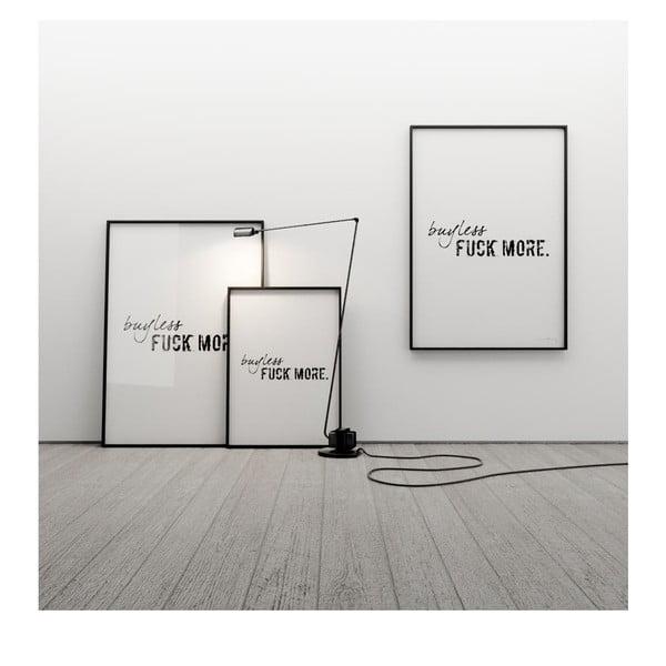 Plakat Buy less, fuck more, 100x70 cm