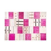 Dywan wełniany Allmode Kilim Pink, 180x120 cm