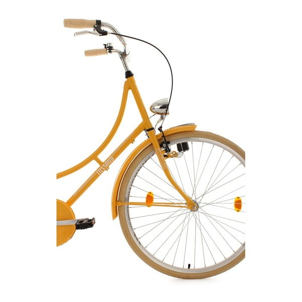"""Rower Taussaud Yellow Singlespeed 28"""", wysokość ramy 54 cm"""