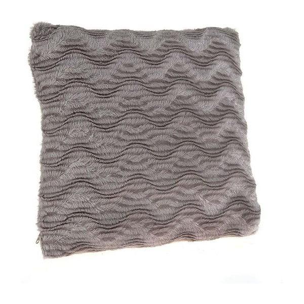 Poduszka ze sztucznej skóry Grey, 40x40 cm