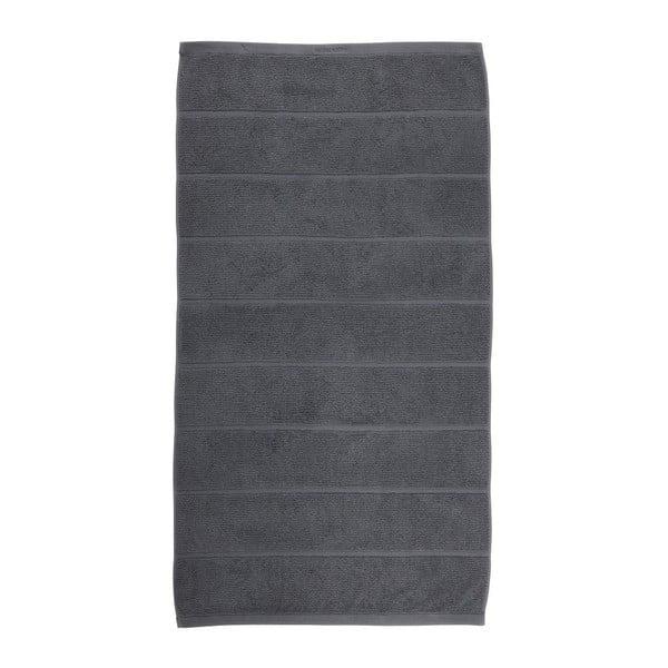 Ciemnoszary ręcznik Aquanova Adagio, 55x100 cm
