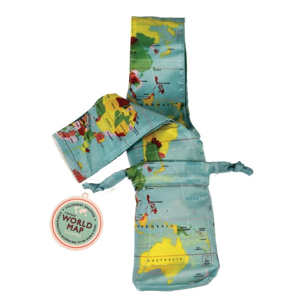Składana torba na zakupy Rex London World Map