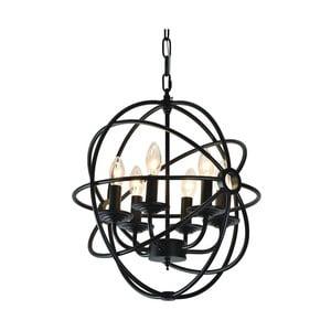 Lampa wisząca Cage 28 cm, czarna