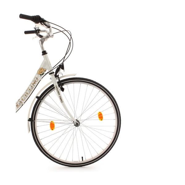 """Damski rower City Bike Golden Times White, 28"""", wysokość ramy 46 cm"""