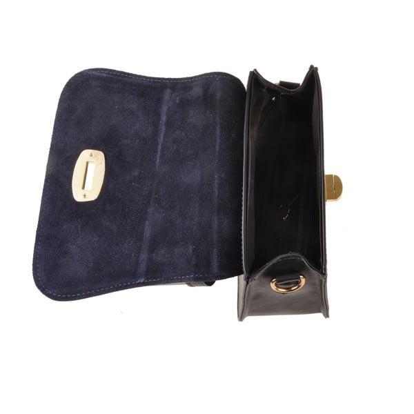Skórzana torebka Flaux, granatowa