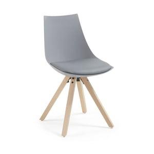 Szare krzesło La Forma Armony