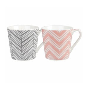 Zestaw 2 kubków Churchill China Geometric Chevron, 325 ml