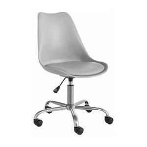Szary regulowany fotel biurowy Støraa Dan