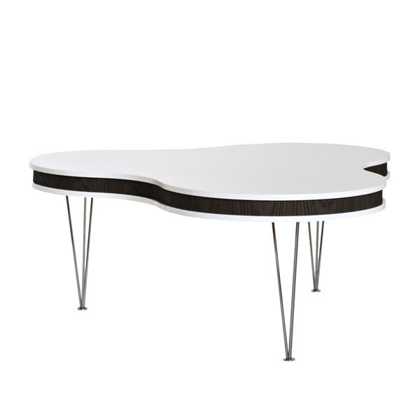 Czarno-biały stolik RGE Hugo Clover