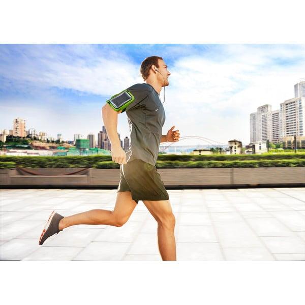 Sportowa opaska na ramię, neopreonowa Armband Running, limetkowa