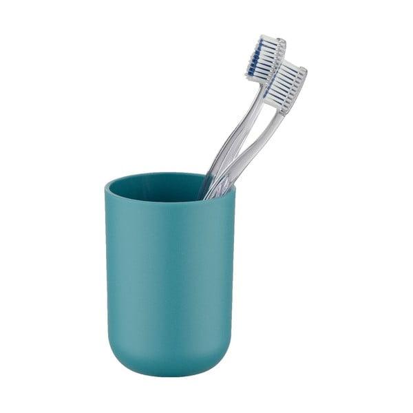 Ciemnoturkusowy kubek na szczoteczki do zębów Wenko Brasil Petrol
