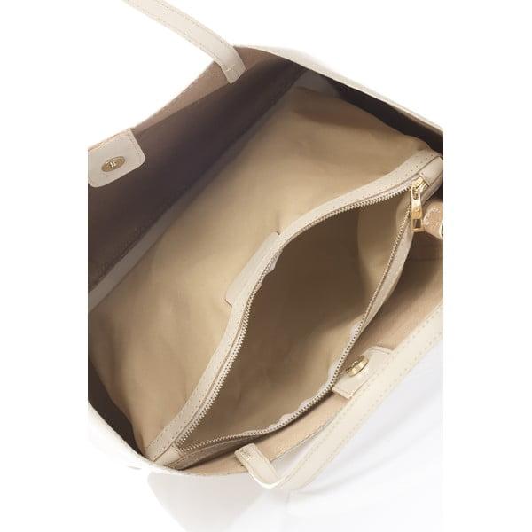 Beżowa torebka skórzana Lisa Minardi Graema