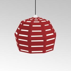 Kartonowa lampa Uno Fantasia D Red, z czarnym kablem