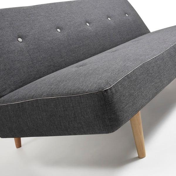 Ciemnoszara sofa rozkładana La Forma Kaleido