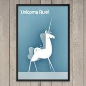 "Plakat ""Unicorns rule"", 29,7x42 cm"