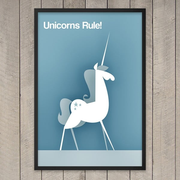 "Plakat ""Unicorns rule"", 29,7x42 cm"