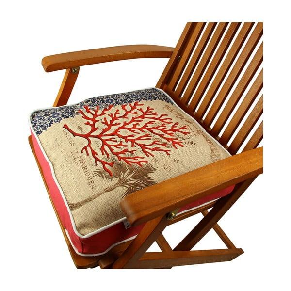 Poduszka na krzesło z wypełnieniem Sea, 42x42 cm