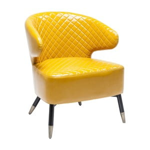 Żółty fotel Kare Design Session