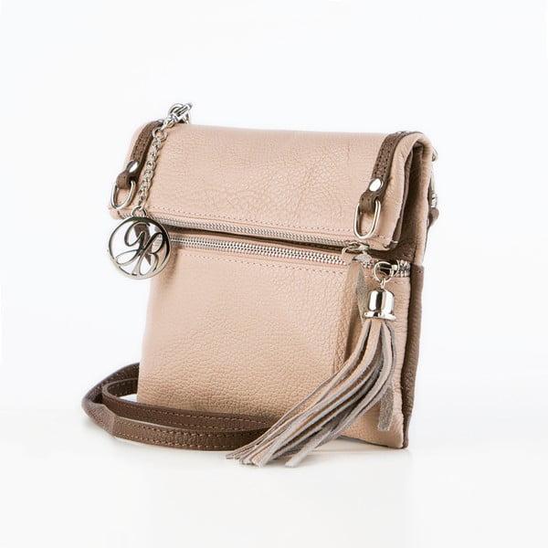 Skórzana torebka Roberto, podrowo-brązowa