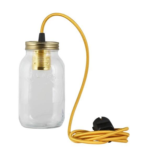 Lampa JamJar Lights, złoty okrągły kabel