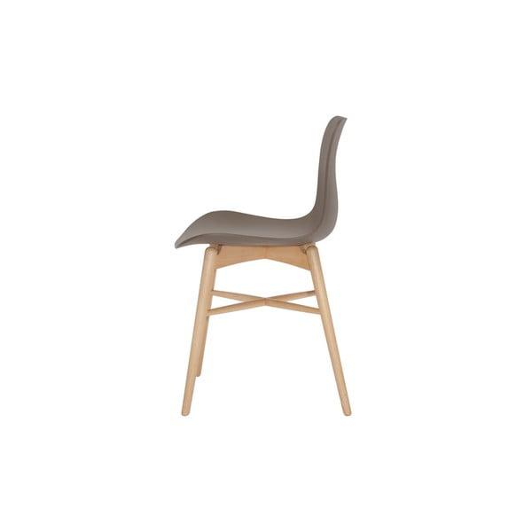 Brązowe krzesło do jadalni z litego drewna bukowego NORR11 Langue Natural