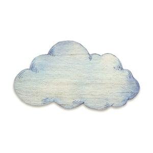 Drewniana dekoracja ścienna Tanuki Cloud, 110x65 cm