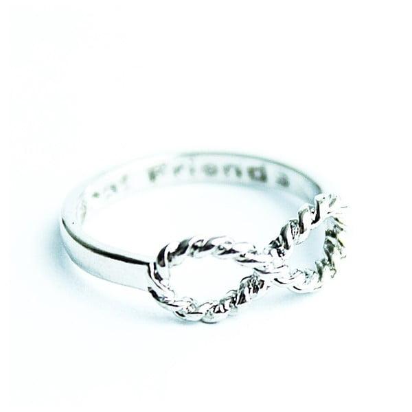 Pierścionek Silver Knurling Infinity