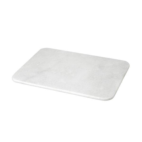 Deska do krojenia z białego marmuru, 1,2x30x40 cm