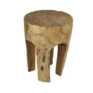 Taboret z drewna mungur HSM Collection Buldog