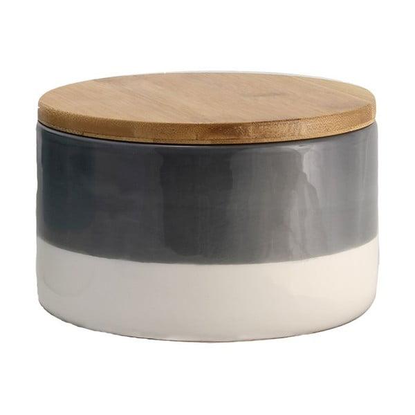 Pojemnik ceramiczny Majken Medium Grey/White
