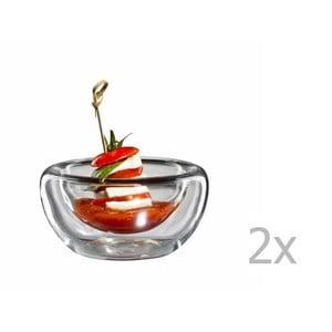 Zestaw 2   średnich szklanych miseczek bloomix