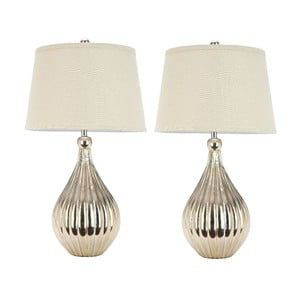 2 lampy stołowe Elli Champagne