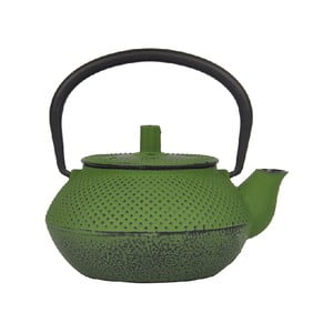 Zielony żeliwny dzbanek do herbaty Bambum Linden, 300 ml