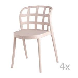 Zestaw 4 beżowych krzeseł sømcasa Gina