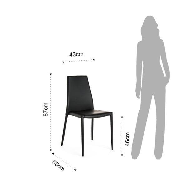 Krzesło Tomasucci Lion, czarne