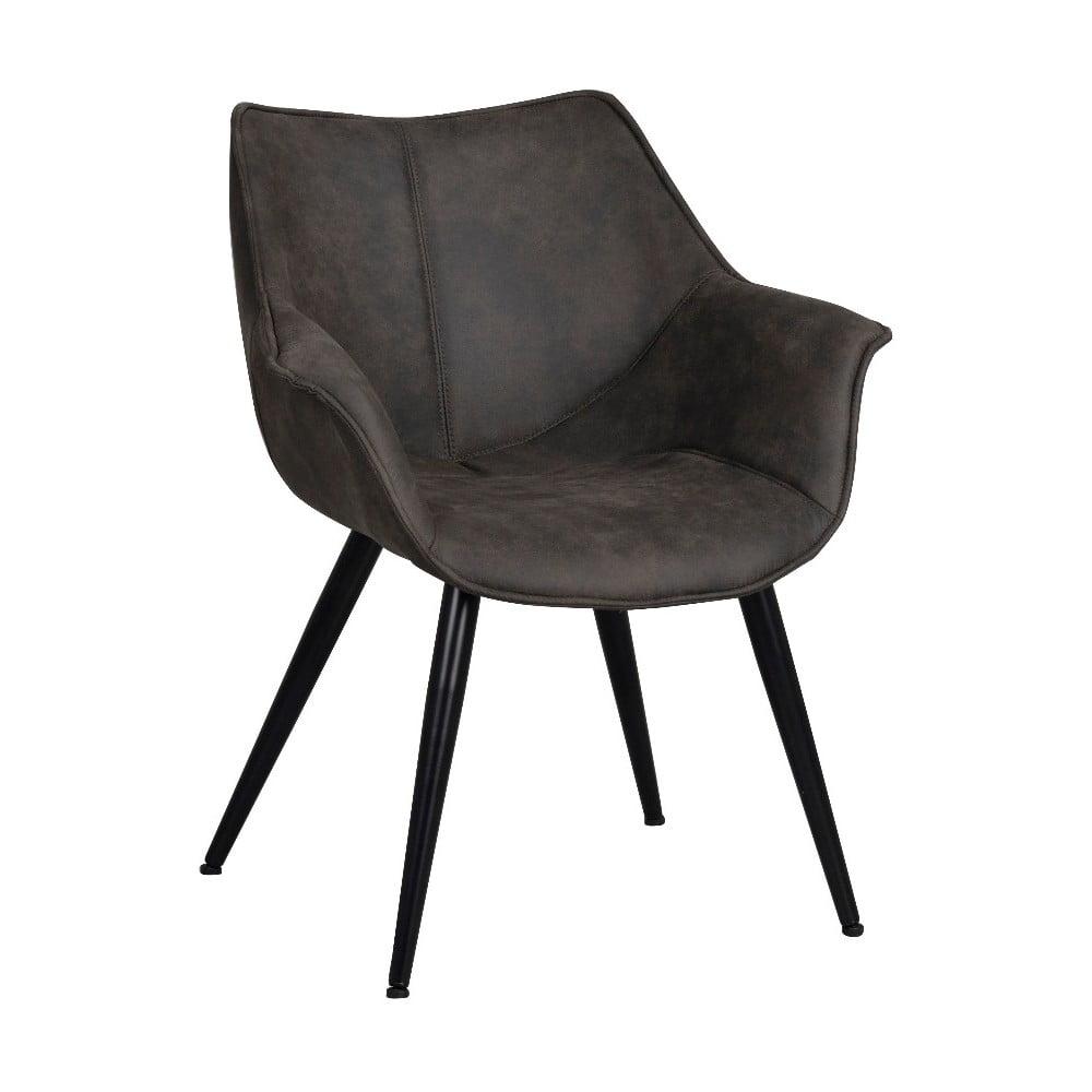 Czarne krzesło z czarnym metalowymi nogami Rowico Echo