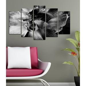 5-częściowy obraz W objęciach orchidei