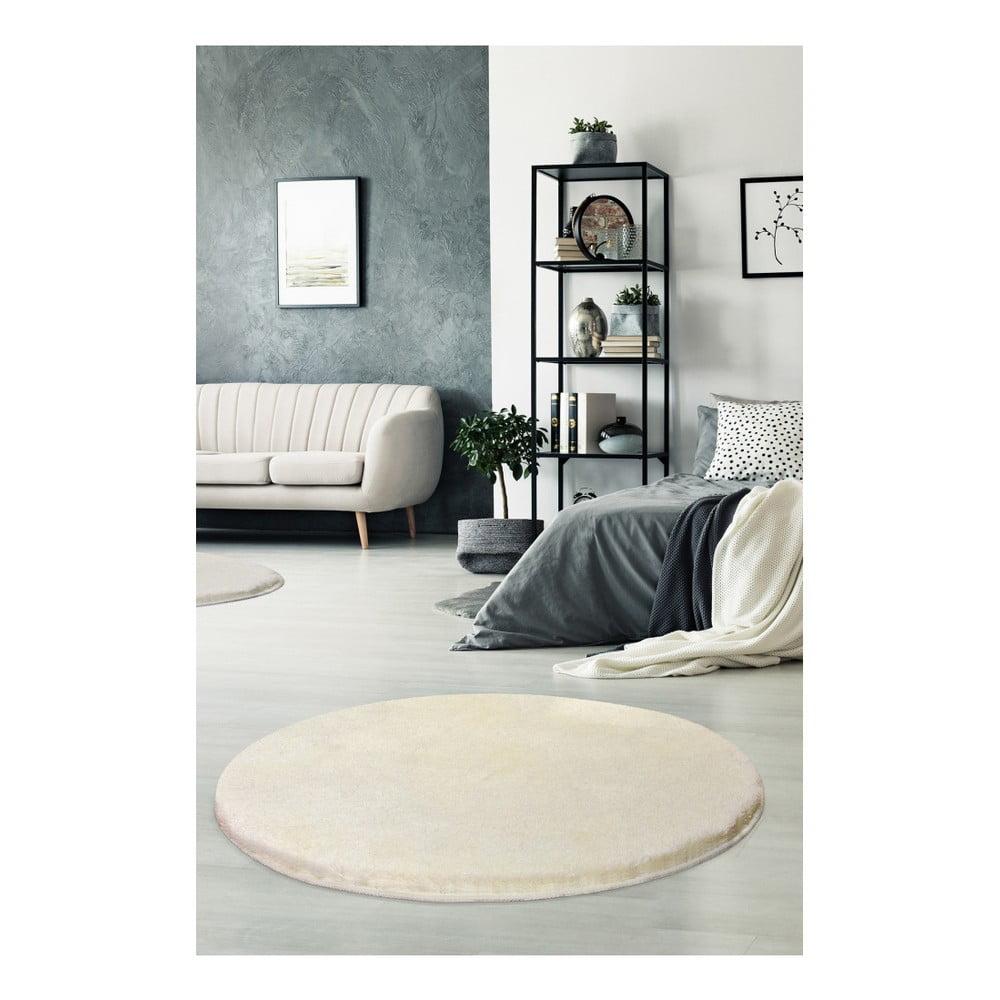 Beżowy dywan Milano, ⌀ 90 cm