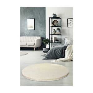 Kremowy dywan Milano, ⌀ 90 cm