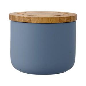 Niebieski matowy pojemnik kamionkowy Ladelle Stak, wys. 9 cm