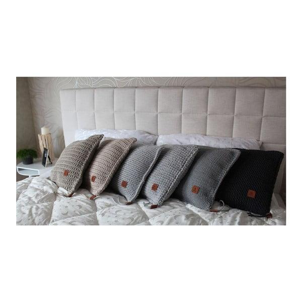 Poduszka pleciona Catness, beżowy, 50x50 cm