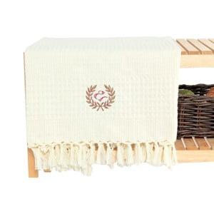 Kremowy ręcznik bawełniany Pestemal, 90x150cm