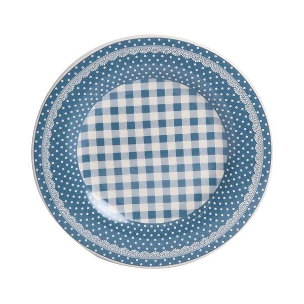 Talerzyk Blue Dots&Checks, 20.5 cm