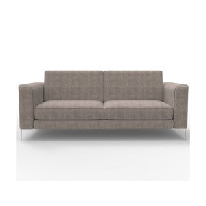 Sofa trzyosobowa Miura Musa, pokrycie piaskowobrązowe, tkanina