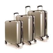 Zestaw 3 walizek Jaslen, złoty