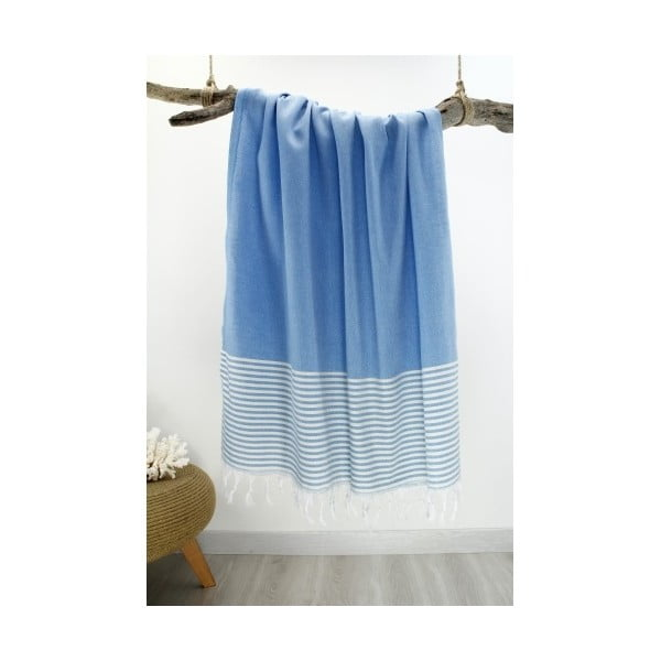 Ręcznik hammam Marine Style Turqoise, 100x180 cm